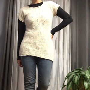 ANTHRO// SPARROW • Knit Pointelle Sweater Dress